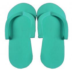 Pantofle pro lakování v pedikúře zelené