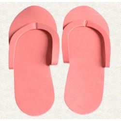 Pantofle pro lakování v pedikúře růžové
