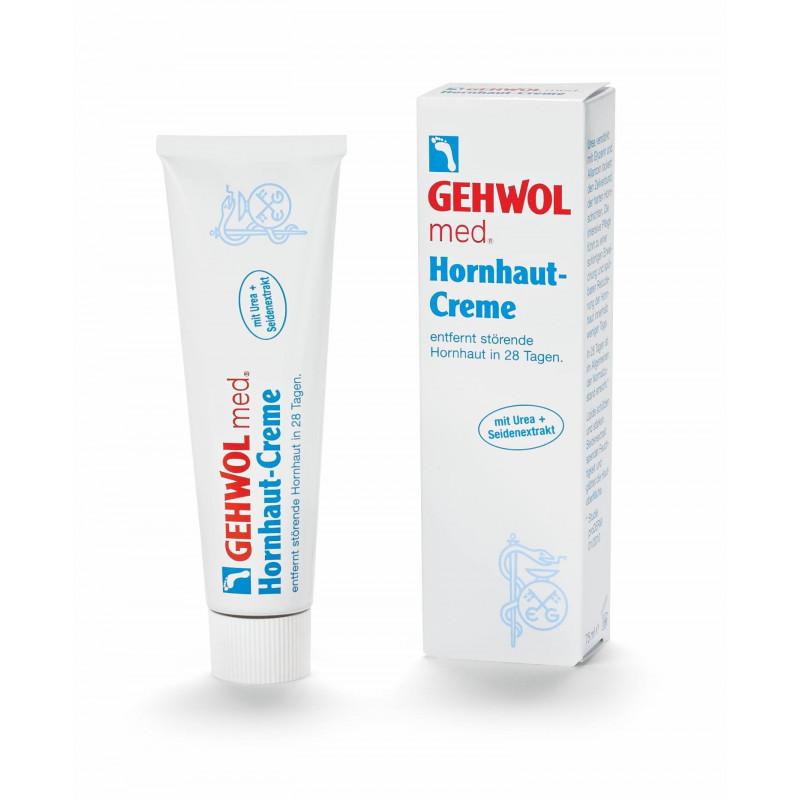 GEHWOL med  Hornhaut-Creme  změkčuje a odstraňuje drsnou zrohovatělou kůži.