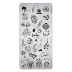 Razítko na nehty - Stamping Plate Vintage