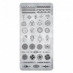 Stamping Plate Boho Vibes