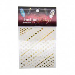 Samolepky Fashion Sticker Hearts Gold