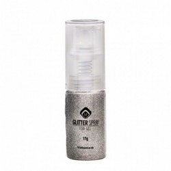 Glitter Spray for Gel 17g -  White Gold