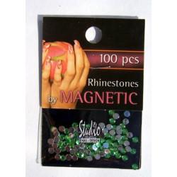 Rhinestones Light Green Large 100 st