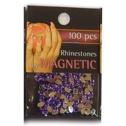 Oval Rhinestones Large Purple