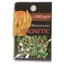 Oval Rhinestones Large L.Green