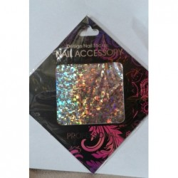 Gel Transfer Foil  Silver Flakes