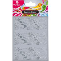 Samolepka Fashion Sticker Silver