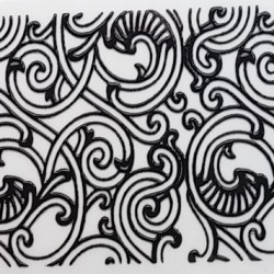 Samolepka Fashion Sticker Tri Black