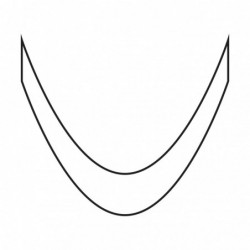 Smile lines - Deep French Silver