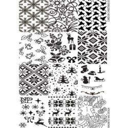 Razítko - Stamping Plate Christmas