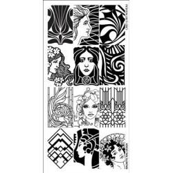 Razítko - Stamping Plate Art Nouveau
