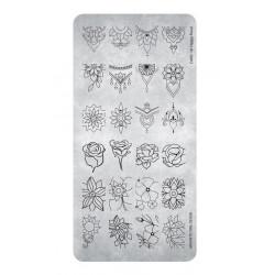 Razítko - Stamping Plate Happy Floral