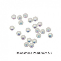 Rhinestones Pearl 3mm AB