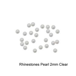 Rhinestones Pearl 2mm Clear