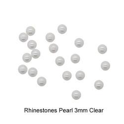 Rhinestones Pearl 3mm Clear