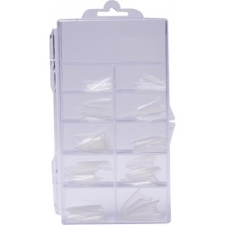 Stiletto Tips Box 100 ks Clear