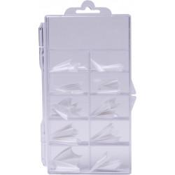 Stiletto Tips Box 100 ks French White