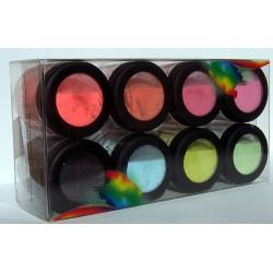 Glittered Coloured Acrylic Powders Fruity Kit 8 pcs
