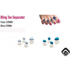 Separátory prstů pro lakování nehtů - silikon s kamínky