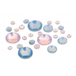 Frosted Rhinestones Pink&Blue