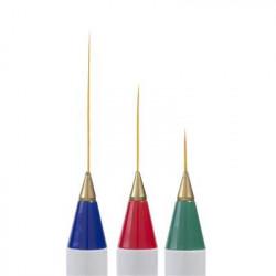 Tenké štětce pro nail art 3ks