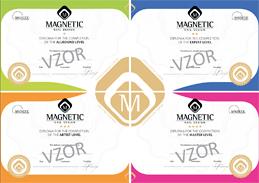 Certifikáty kvalifikačních stupňů konceptu Magnetic Exclusive Nail Salón